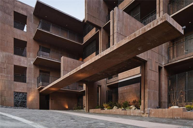 酒店建筑外观设计-融入当地特色的Galleria Midobaru温泉酒店设计