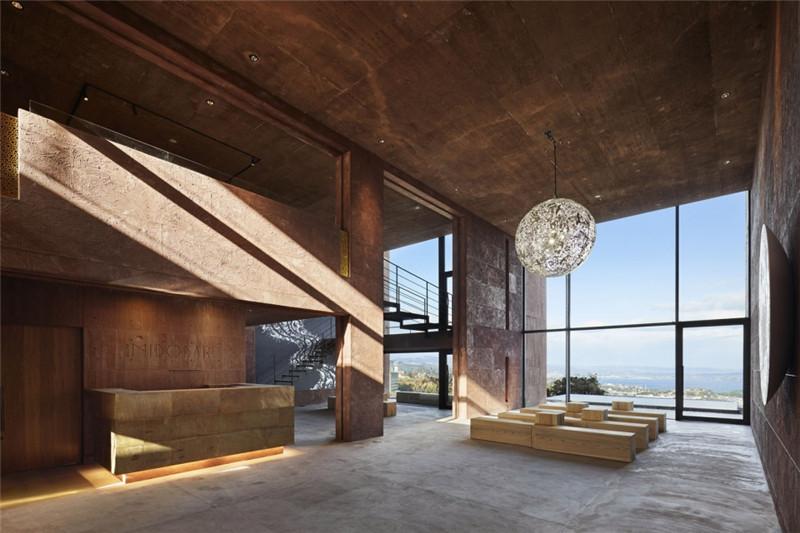 酒店大堂设计-融入当地特色的Galleria Midobaru温泉酒店设计