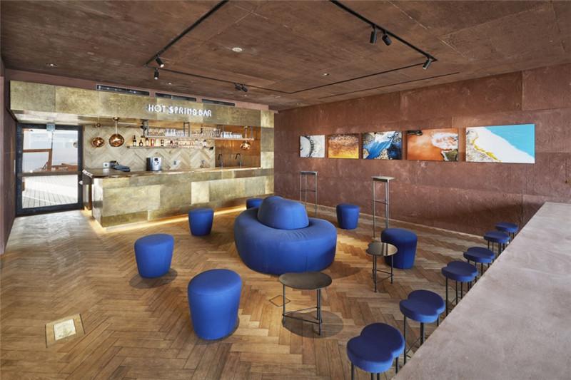 酒店餐厅酒吧设计-融入当地特色的Galleria Midobaru温泉酒店设计