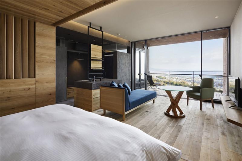 酒店客房设计-融入当地特色的Galleria Midobaru温泉酒店设计