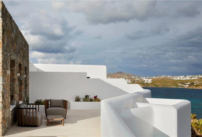 希腊米科诺斯岛Aeonic极简主义度假酒店设计