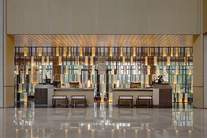 最新开业   成都海泉湾美憬阁索菲特酒店大堂设计