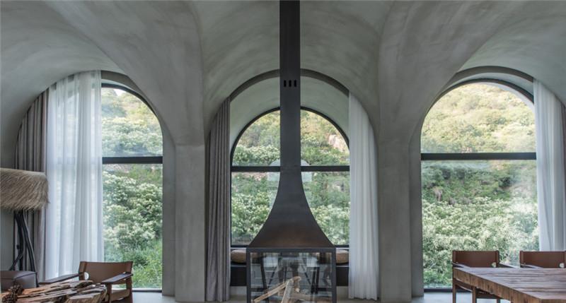 民宿餐厅设计-现代艺术侘寂风密境民宿设计案例赏析