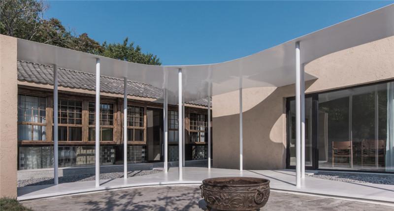 民宿庭院设计-现代艺术侘寂风密境民宿设计案例赏析