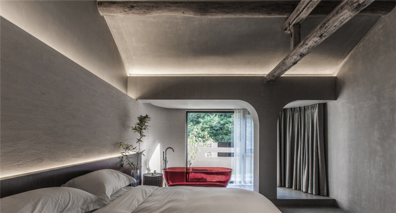 客房设计-现代艺术侘寂风密境民宿设计案例赏析