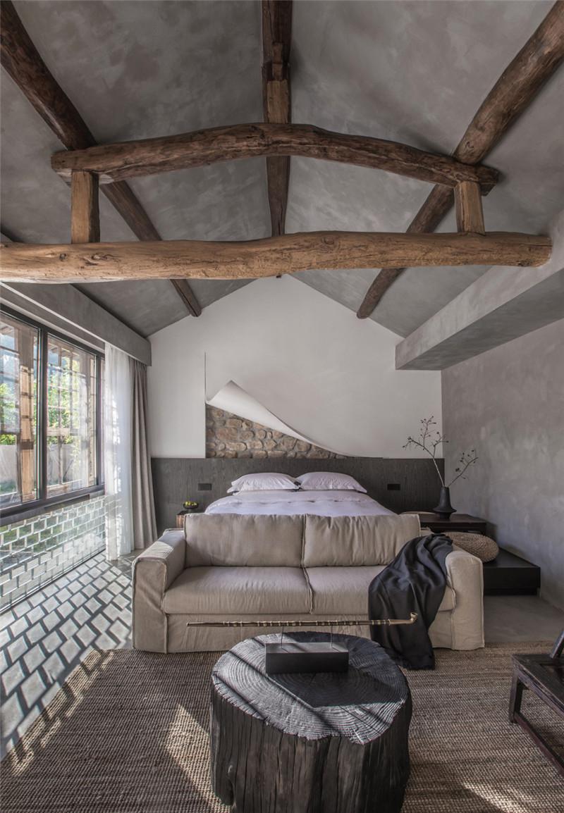 民宿客房设计图-现代艺术侘寂风密境民宿设计案例赏析