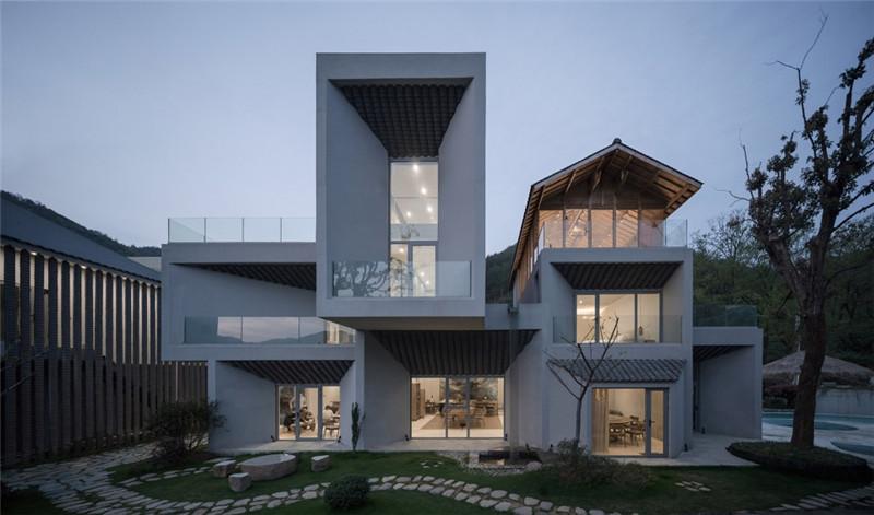 以山水为灵感的山涧房民宿设计案例
