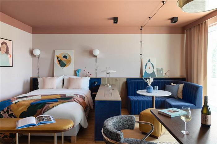 客房设计-时尚前锋主题Schwan Locke公寓式酒店设计