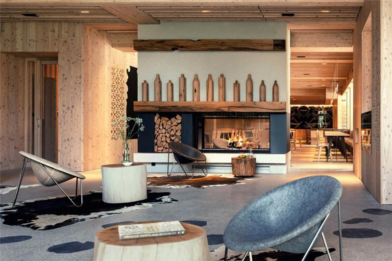 酒店接待大厅设计-连接本土文化与创意的BOHINJ酒店翻新改造设计方案