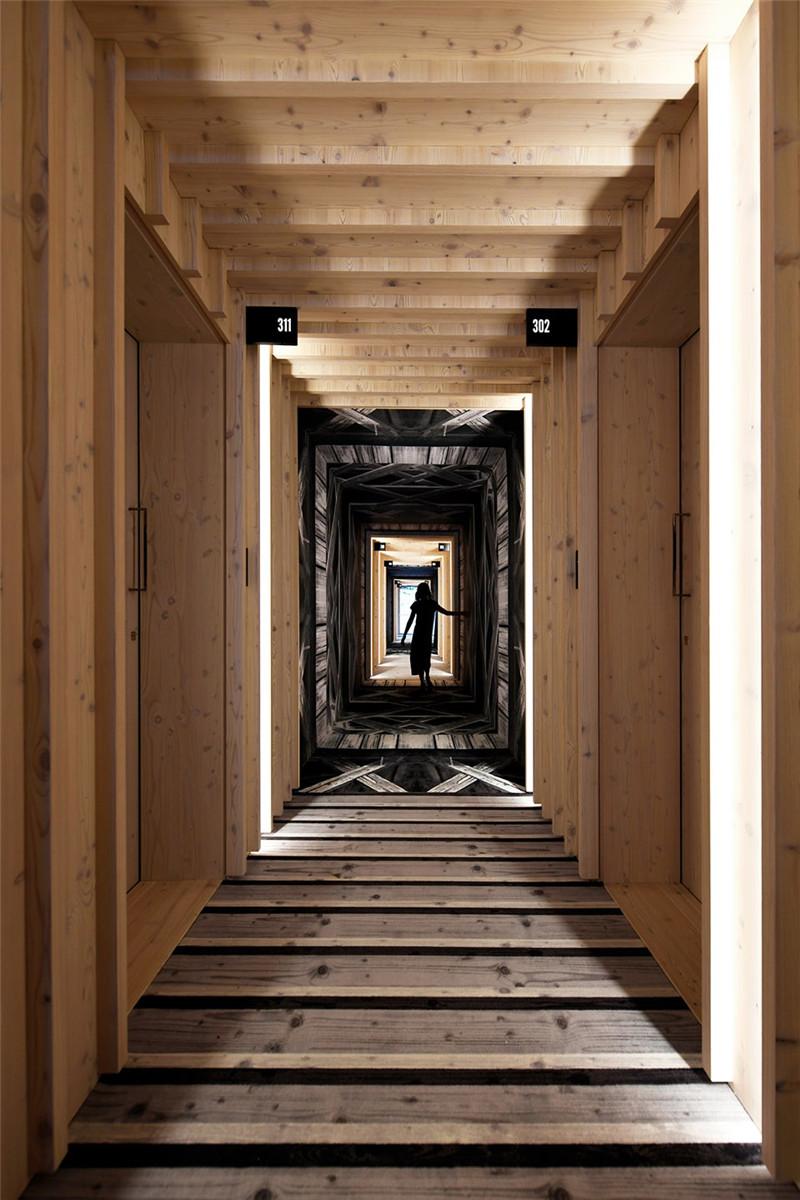 客房走廊设计-连接本土文化与创意的BOHINJ酒店翻新改造设计方案