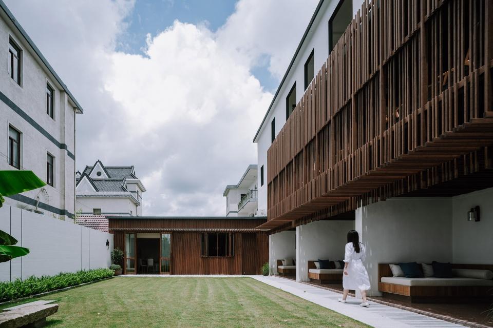 民宿庭院景观设计-特色乡村民宿设计推荐:上海左盼民宿改造设计方案