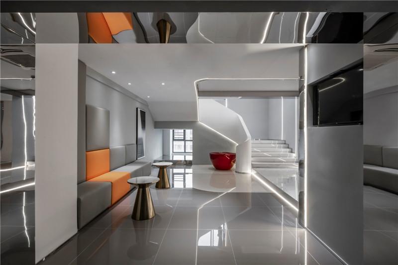 酒店大堂设计图-以通宝为主题的时尚精品酒店设计案例