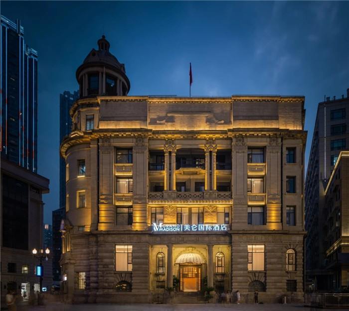 酒店外观设计-复古传奇  武汉汉口江滩美仑国际酒店设计