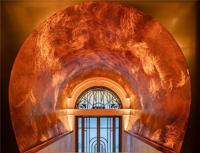 复古传奇  武汉汉口江滩美仑国际酒店入口设计