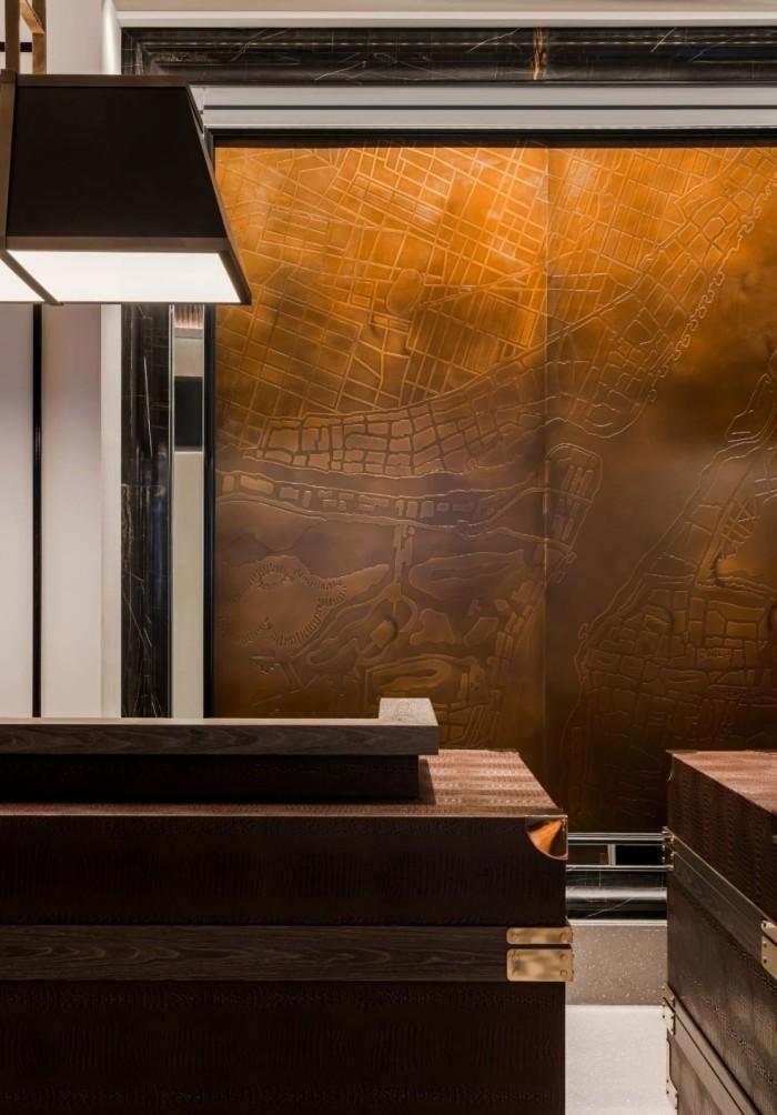 酒店接待台设计-复古传奇  武汉汉口江滩美仑国际酒店设计