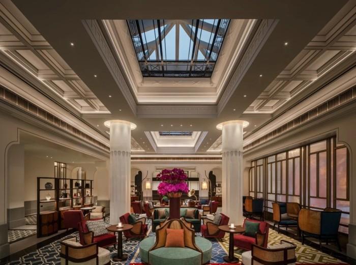 复古传奇  武汉汉口江滩美仑国际酒店大堂休闲区设计