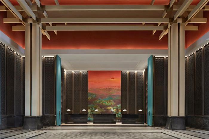酒店大厅设计-中式风华   南湖宾馆1号楼翻新改造设计案例