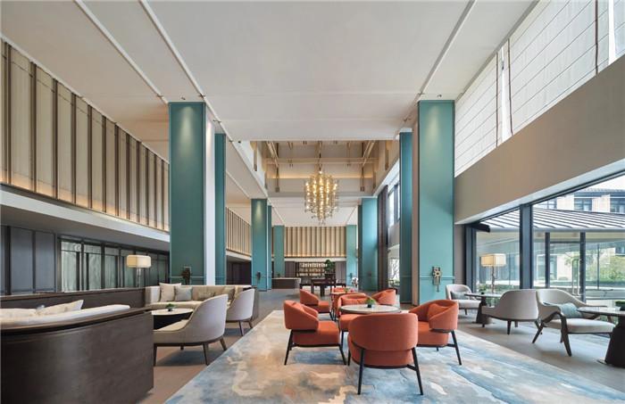 酒店大堂吧设计-中式风华   南湖宾馆1号楼翻新改造设计案例