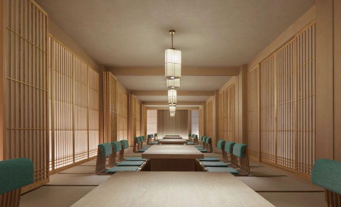 日式餐厅设计-中式风华   南湖宾馆1号楼翻新改造设计案例