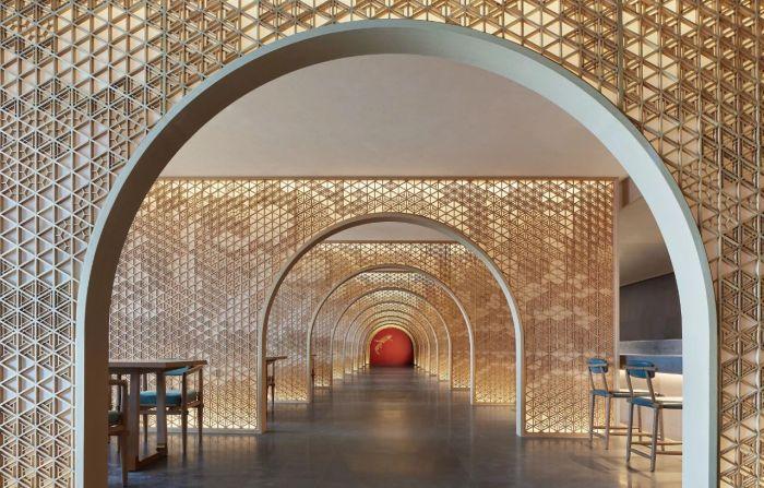 中餐厅设计-中式风华   南湖宾馆1号楼翻新改造设计案例