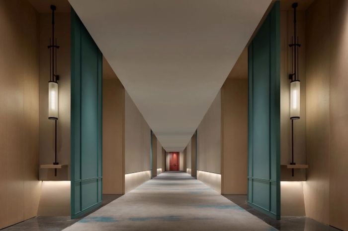 客房层走廊设计-中式风华   南湖宾馆1号楼翻新改造设计案例