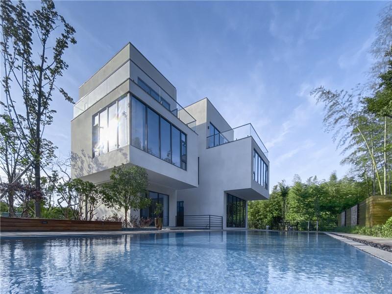 民宿泳池设计-宜兴松楼   以竹为主题的摄影师民宿设计案例赏析