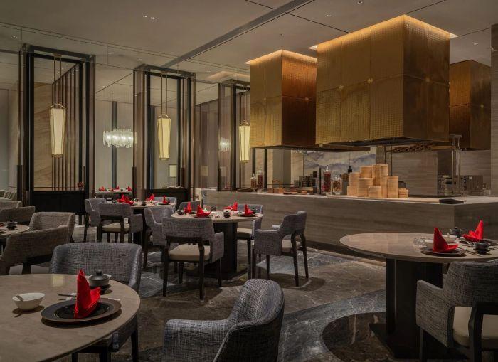 新五星级酒店设计   佛山新城保利洲际酒店大堂吧设计赏析